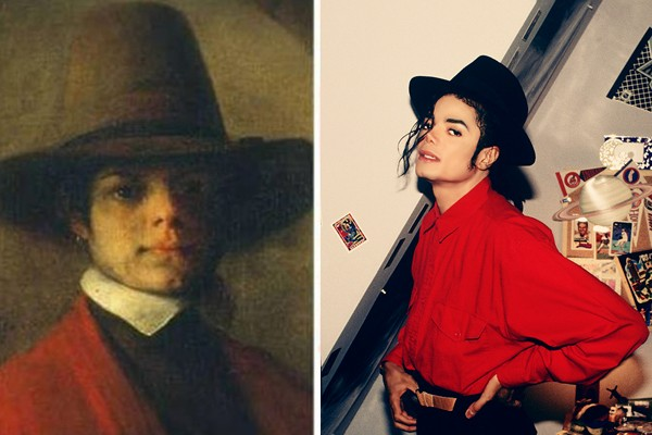 Michael Jackson and some old paint
