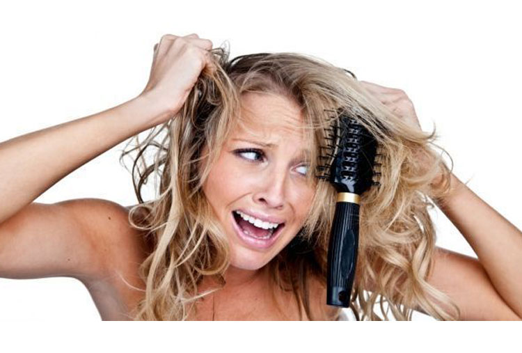 Undo knots in your hair