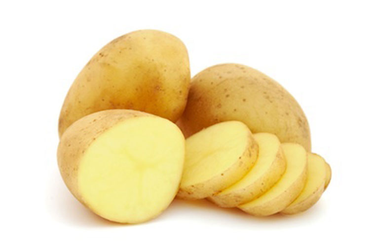 Potato remedy for burns