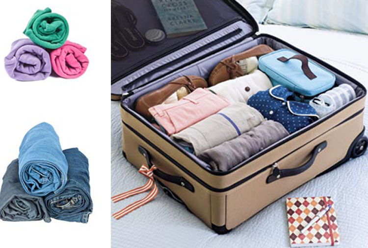 Save space inside your suitcase