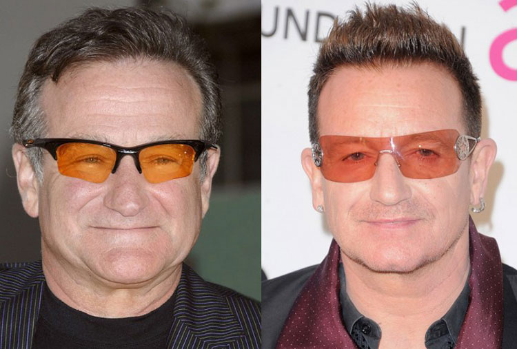 Robin Williams and Bono