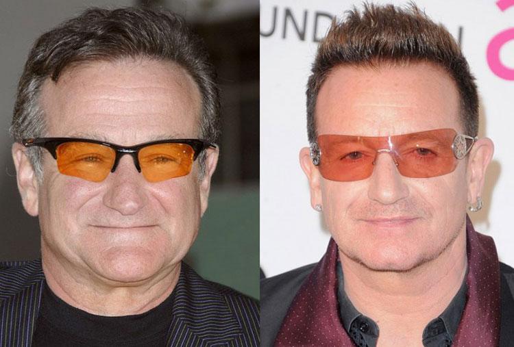 Robin Williams and Bono