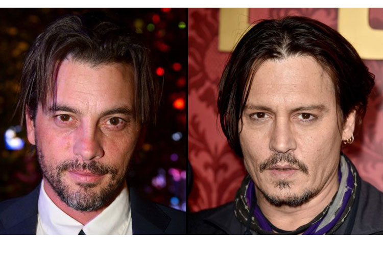 Skeet Ulrich and Johnny Depp