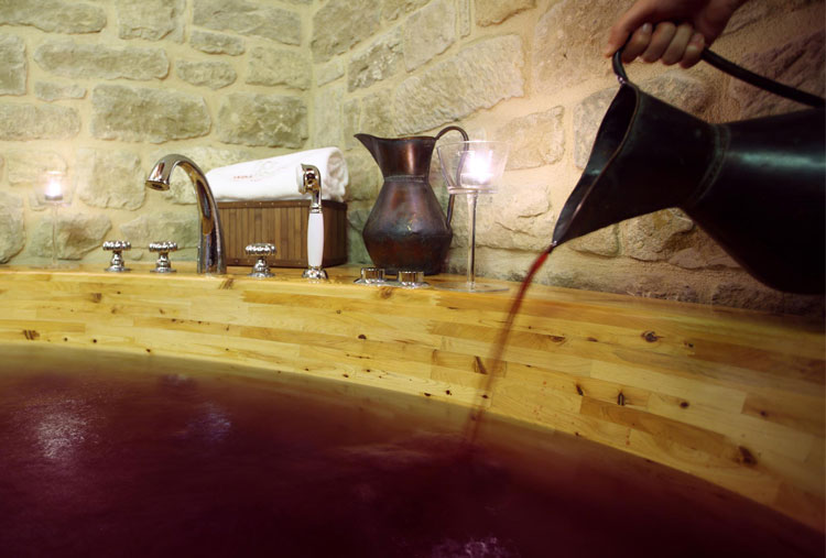 Wine baths