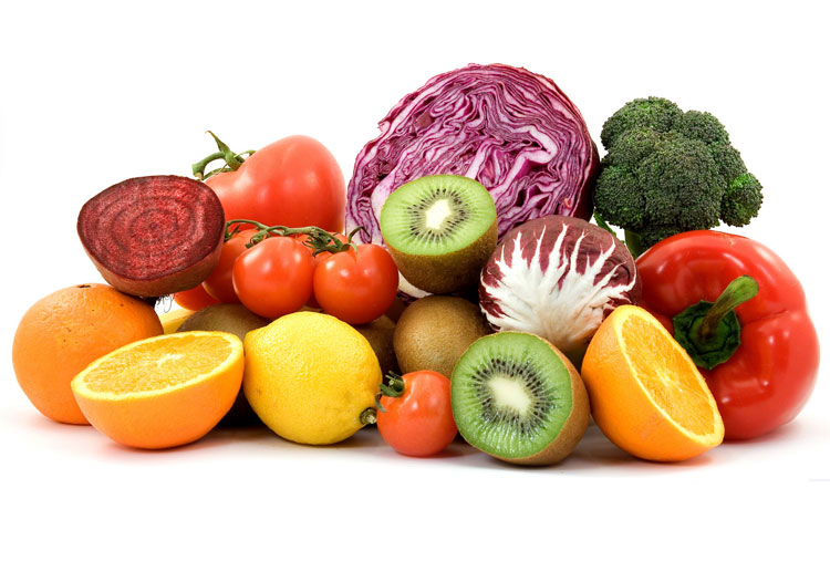 Diet rich in fruits and veggies