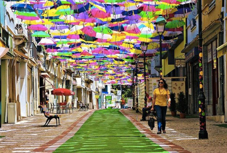 The floating umbrella festival
