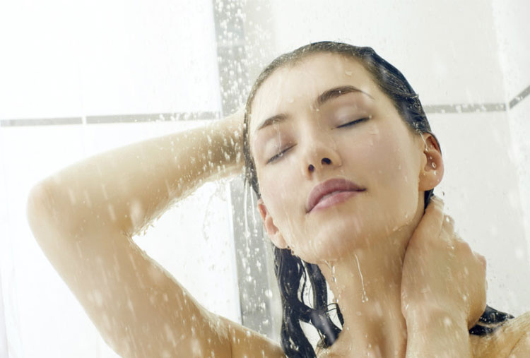 Rinse with cold water