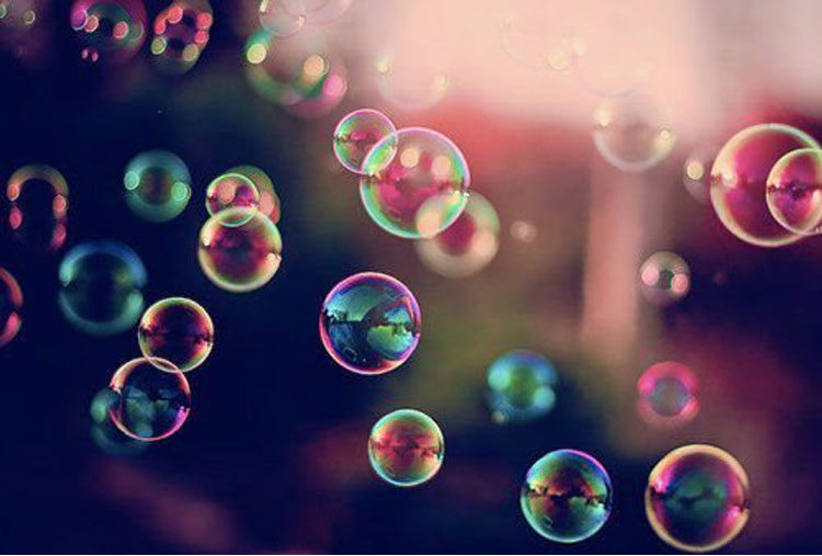 Entertain an audience with a bubble show