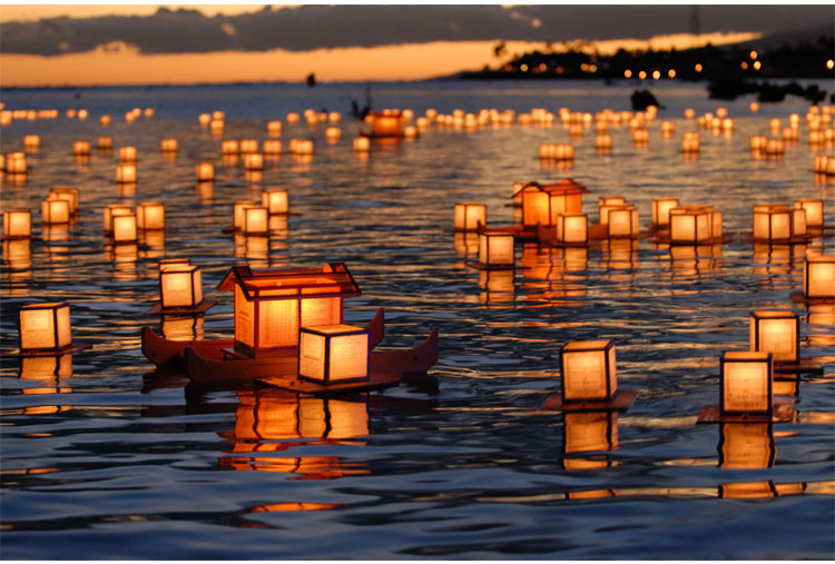 Lantern Floating Hawaii Ceremony