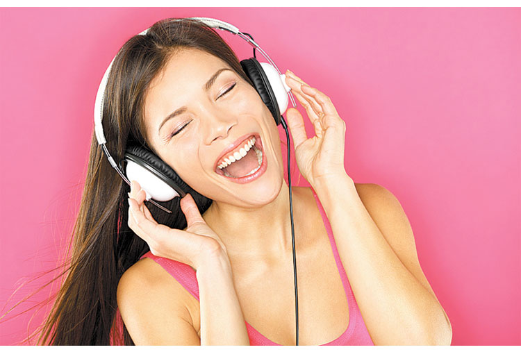 Music helps reduce stress