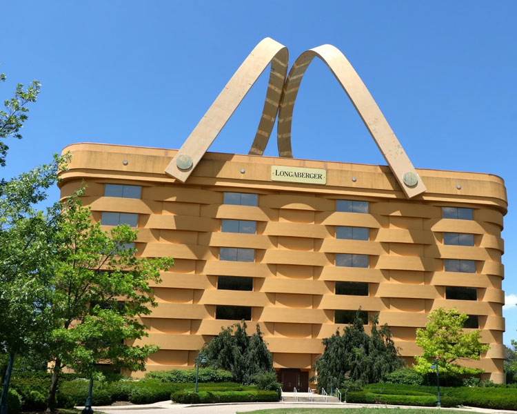 It is the office building of the Longaberger Company
