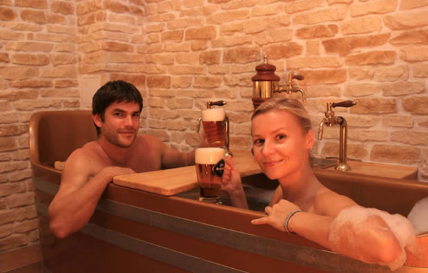 Would you like a spa tretment and a beer?