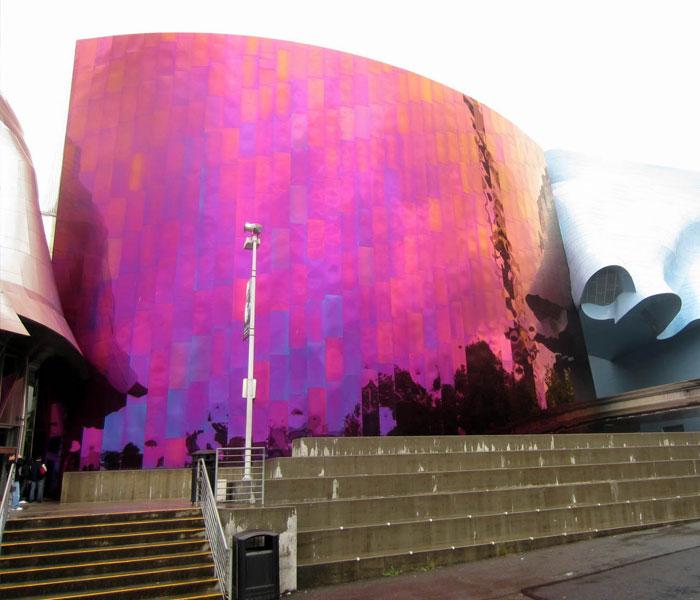 Giant guitar sculpture
