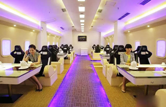A meal inside this airplane can cost more than $1,000