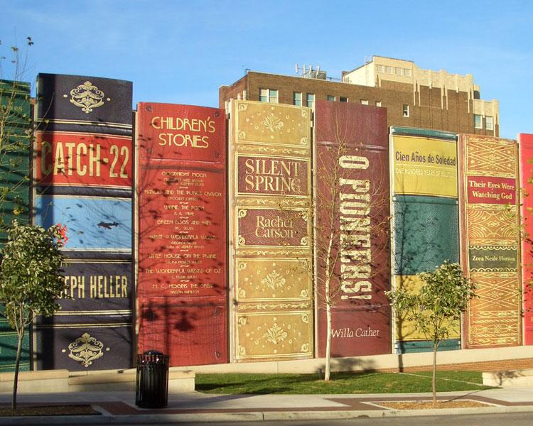 Gigantic books in Kansas