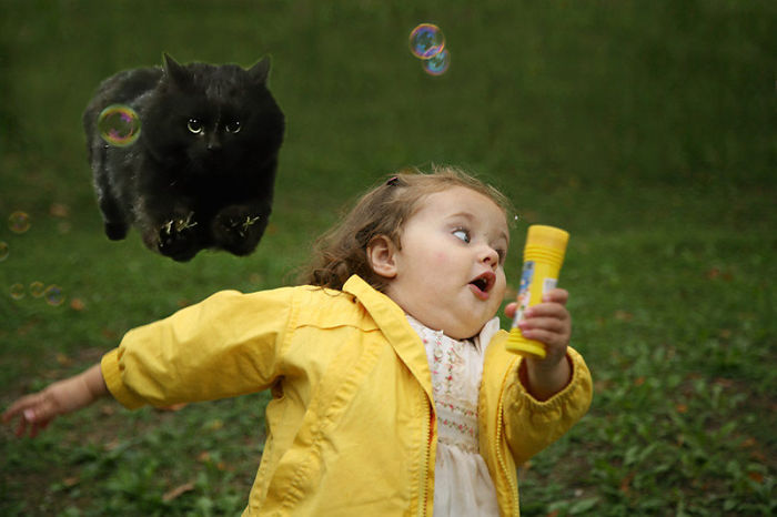 Run little girl, run!