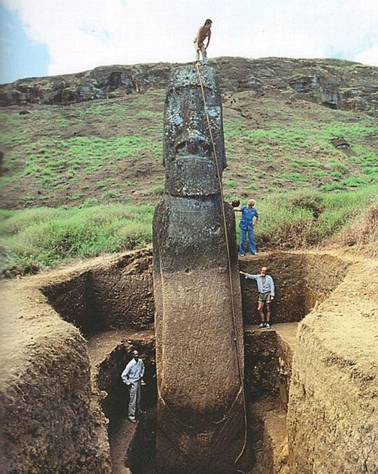 Did you know that the heads on Easter Island have full bodies buried beneath them?