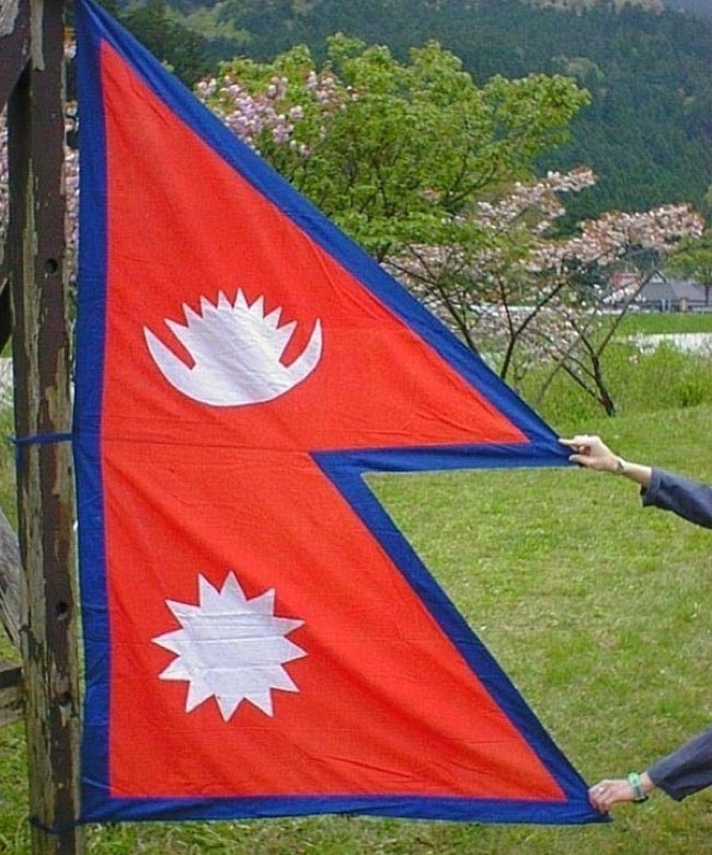 Nepal's flag is the only flag in the world that isn't a square or a rectangle