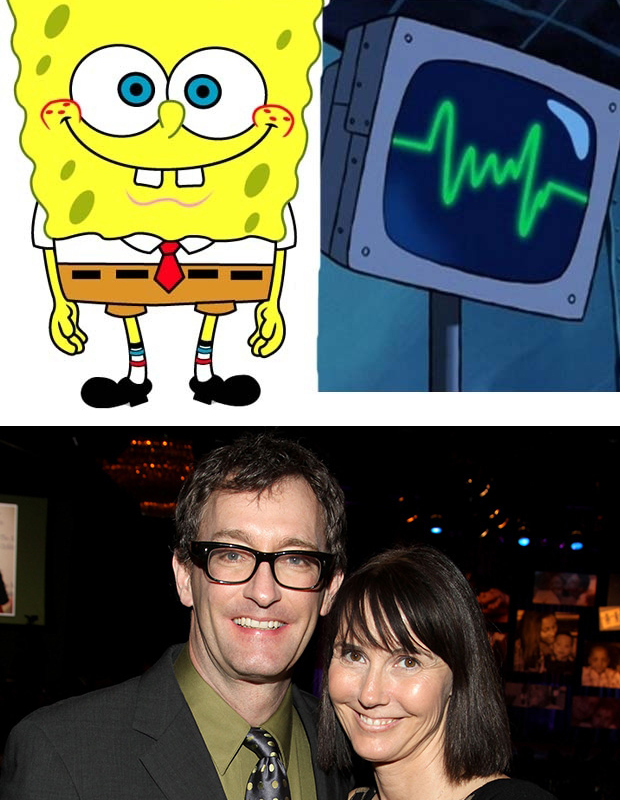 The voice actor of SpongeBob and the voice actor of Plankton's computer wife are married in real life…