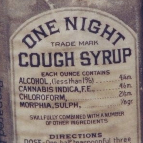 Cough syrup used to contain a lot of alcohol