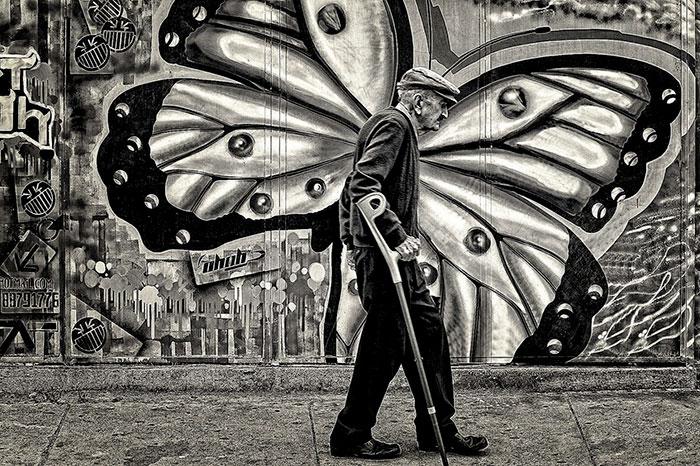 Street butterfly