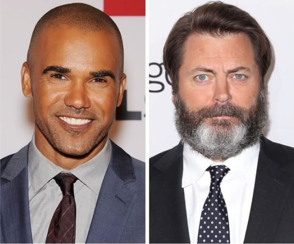 Shemar Moore and Nick Offerman