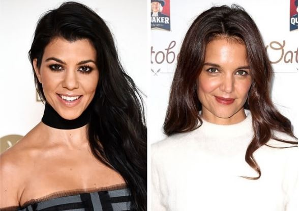 Kourtney Kardashian and Katie Holmes