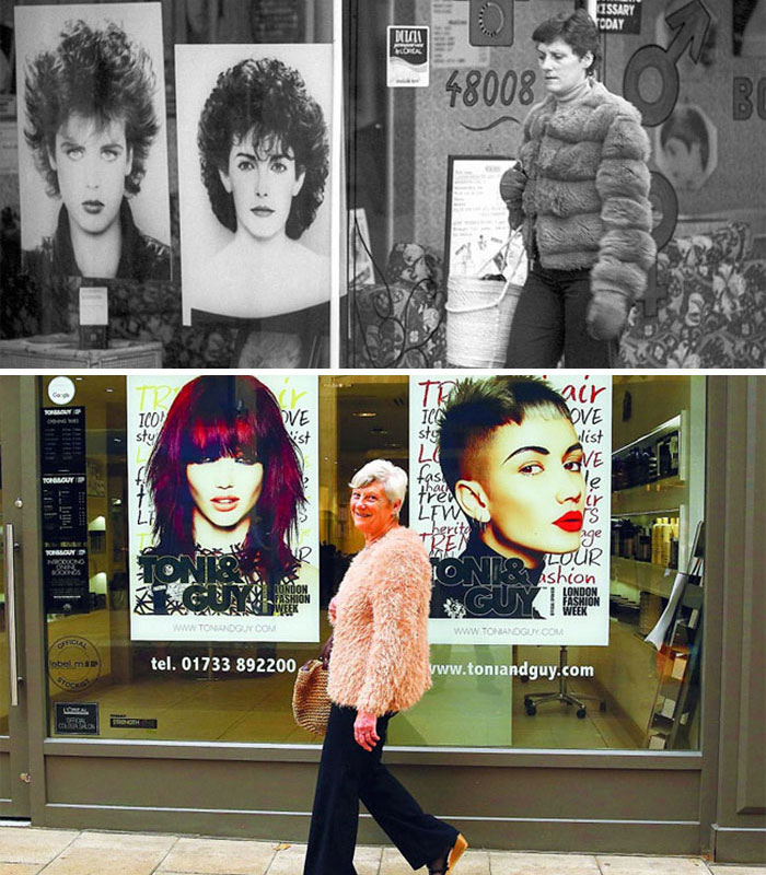 Hairdressers Shop (1980 And 2016)