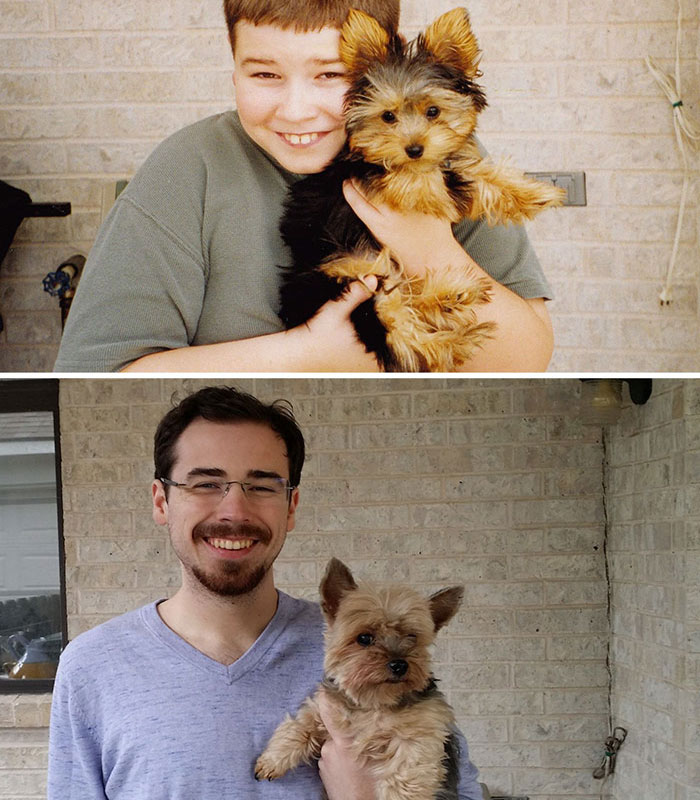 """My Lifelong Companion And Friend, 2001 And 2014"""