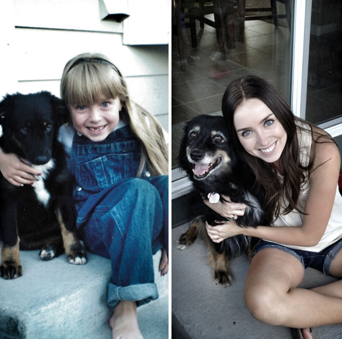 """My Dog And I, 1998 And 2012"""