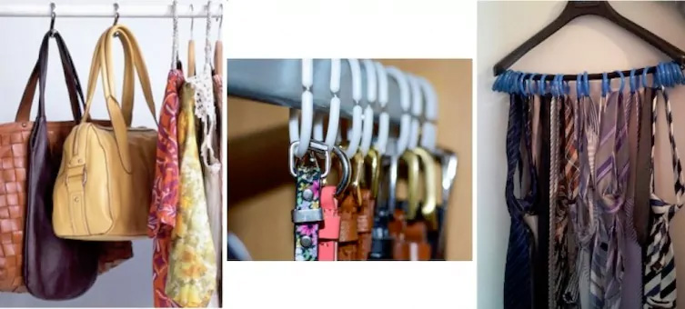 Re-organize your closet with shower curtain rings
