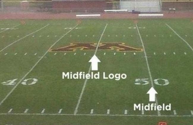 It's called a midfield logo for a reason