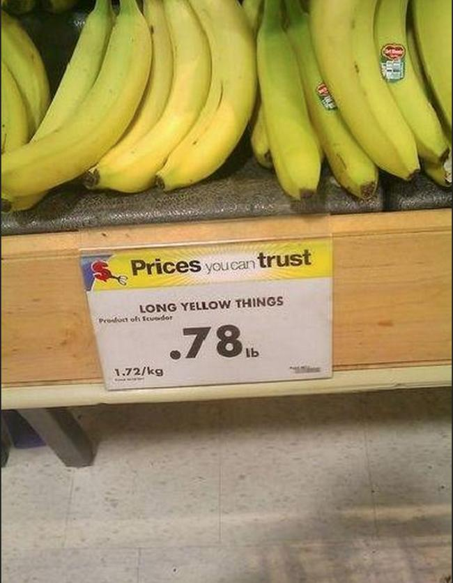 Long yellow things on the supermarket