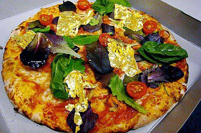 White Truffles and Gold pizza ($2,000) - Margo's, Malta