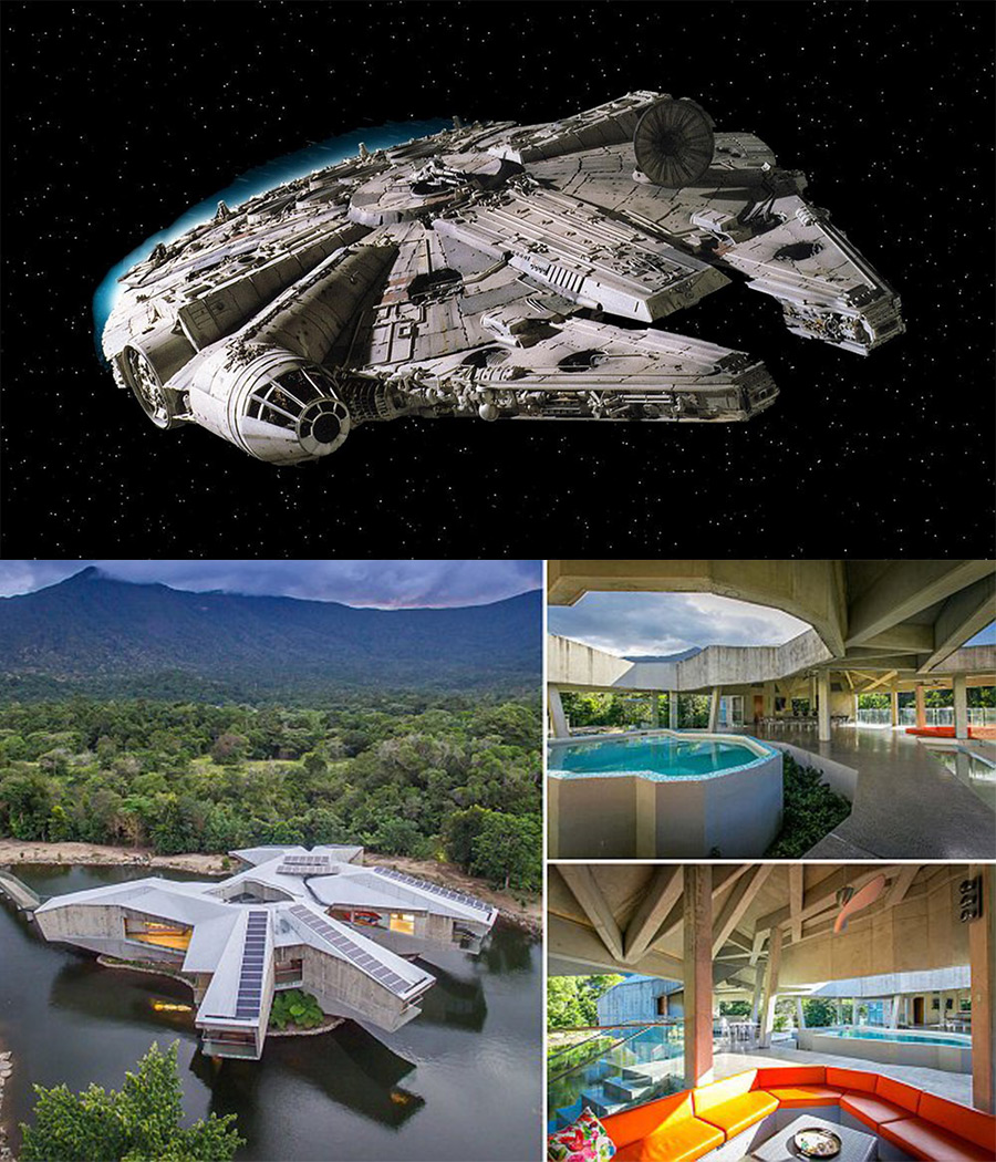 The Millennium Falcon made home