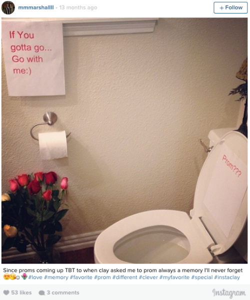 A bathroom PROMposal