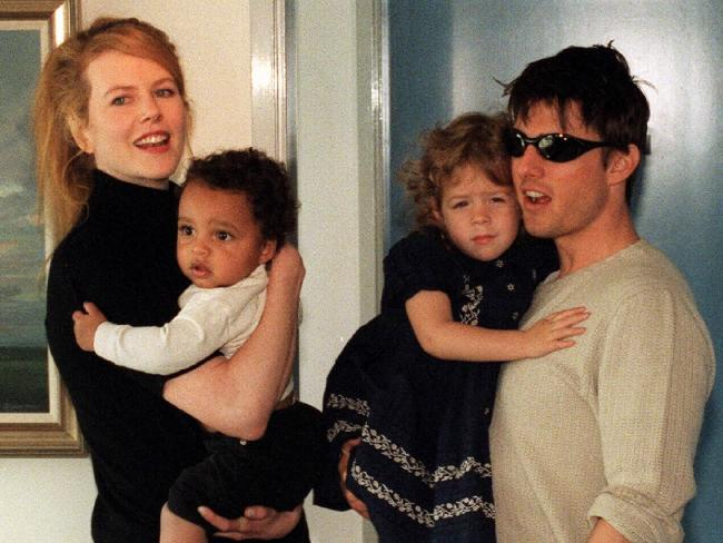 ¿Did you know that Nicole Kidman and Tom Cruise adpted two kids?