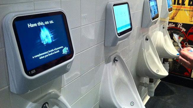 Play video games while you go to the bathroom