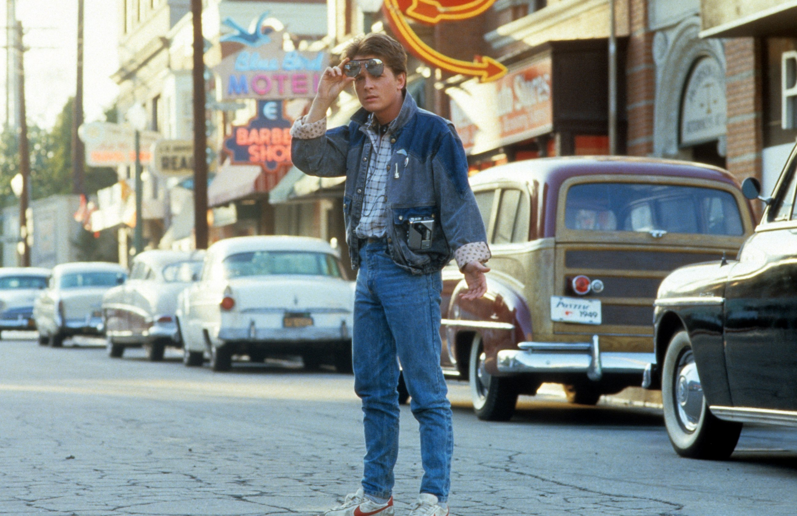Michael J. Fox came back from the future