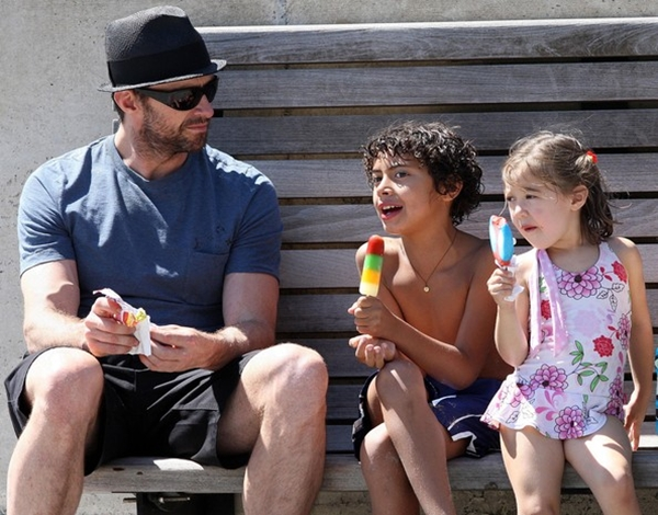 Hugh Jackman and his two sons