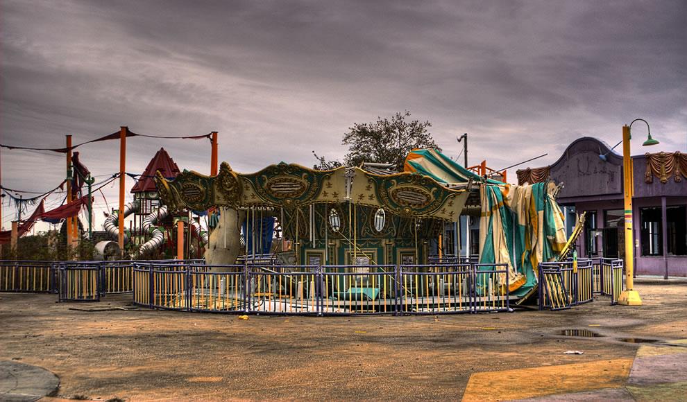 An abandoned fair