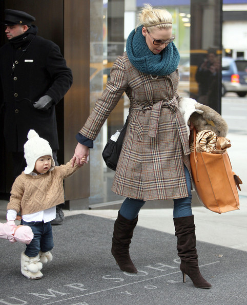 Katherine Heigl and her little Naleight and Adalaide