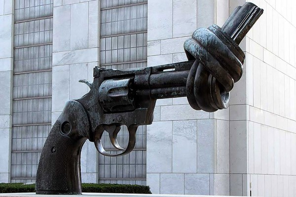 The gun with a knot