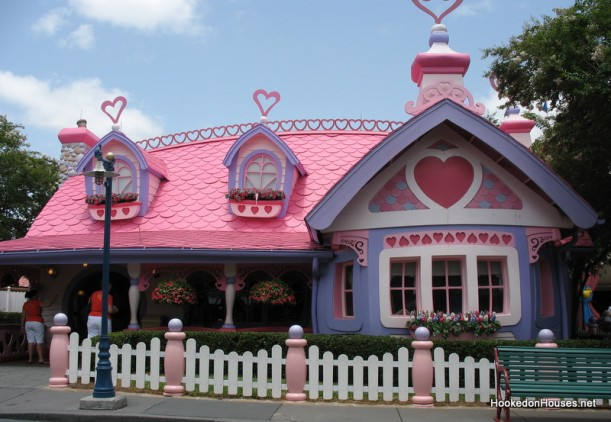 The beautiful house of Minnie Mouse