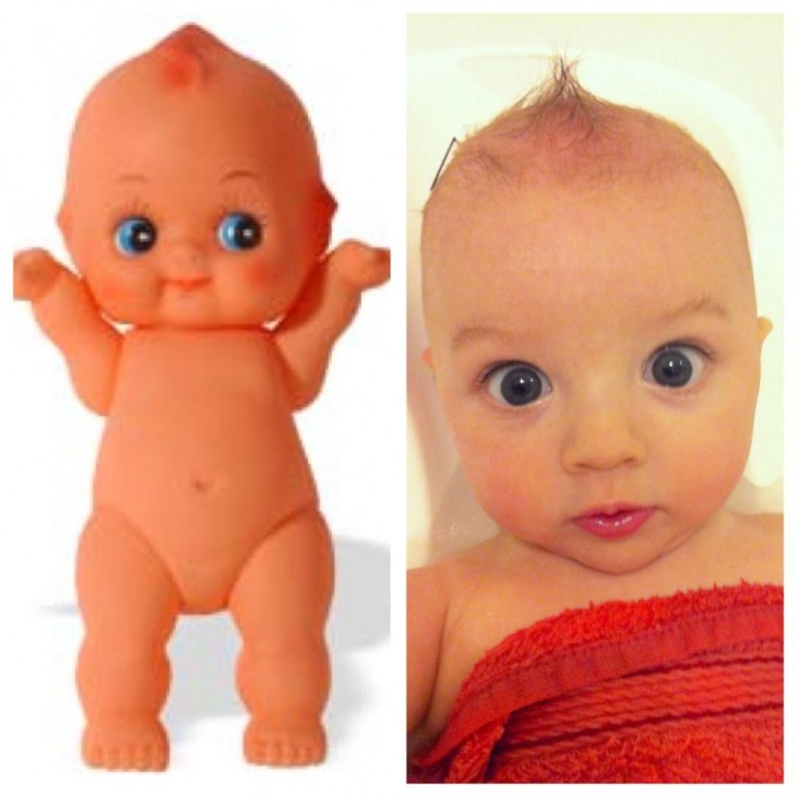 Plastic Baby and real baby