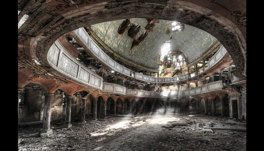 The large abandoned auditorium