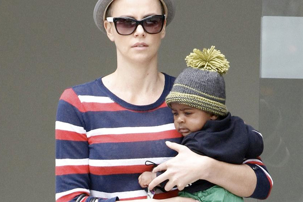 Charlize Theron and her son