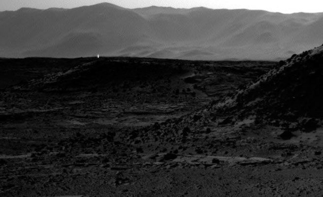The shinning Light in Mars