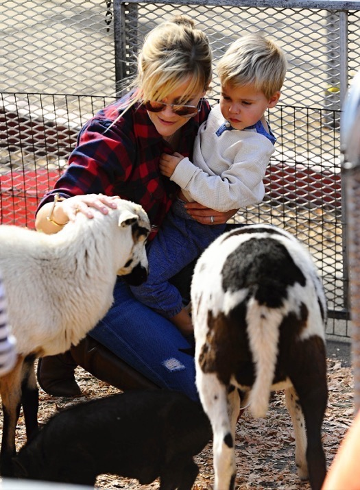 Reese Witherspoon and her farm pets