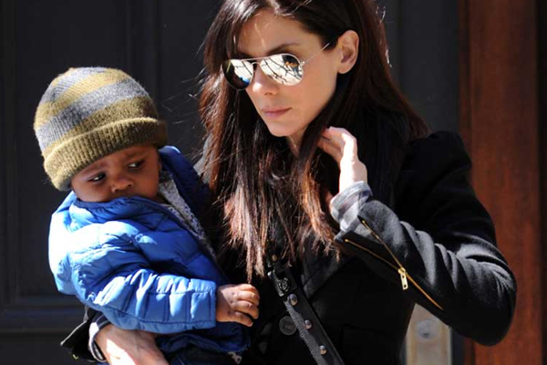 Sandra Bullock and her handsome boy